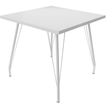 TB86L Tolix large bistro table hire