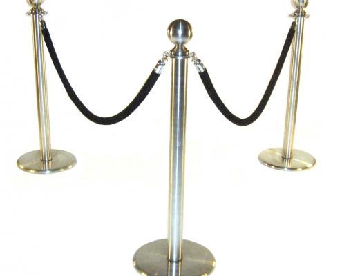 Barrier post and rope hire - 3 posts