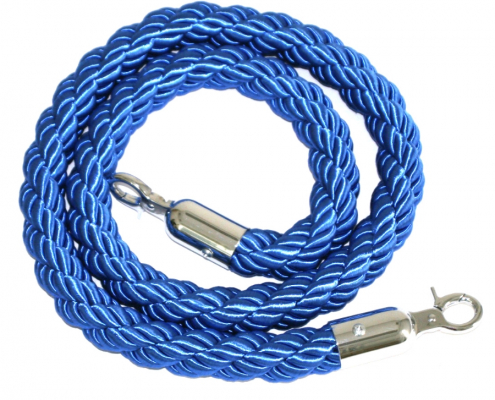 Blue braided rope hire