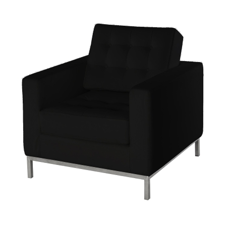 LS92 Leon armchair hire - Black