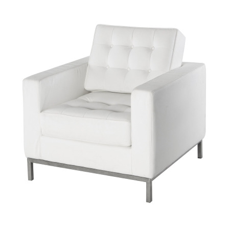 LS92 Leon armchair hire - White