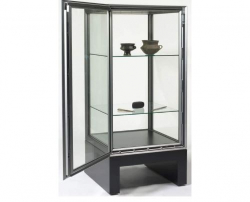 High security museum display case - Open