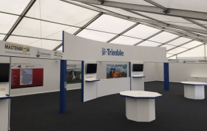 22m x 12m outdoor exhibition stand at Cereals - 2
