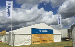 22m x 12m outdoor exhibition stand at Cereals