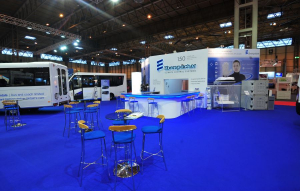 22m x 22m exhibition stand at CV Show