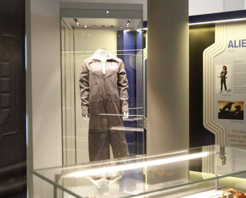 Mannequin display case for Sir Ridley Scott exhibition 5