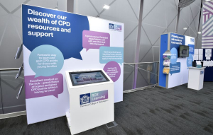 Royal College of Radiologists exhibition stand at RCR