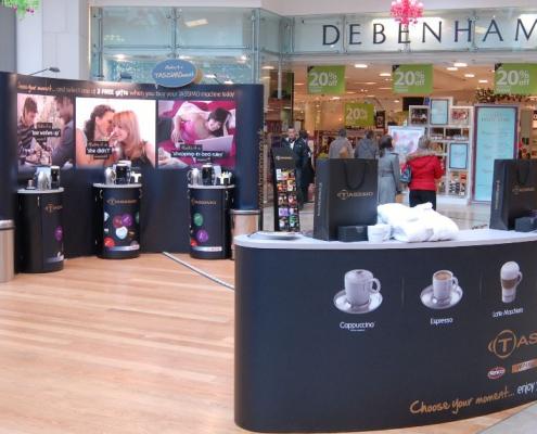 Shopping centre display at Bullring Shopping Centre