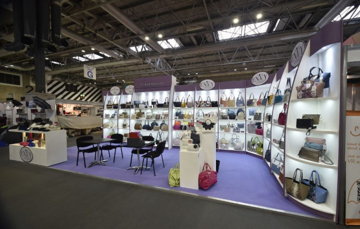 8.5m x 3.5m exhibition stand at Spring Fair