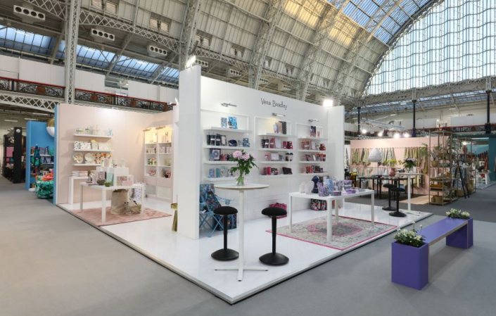 8.5m x 7m exhibition stand at Top Drawer