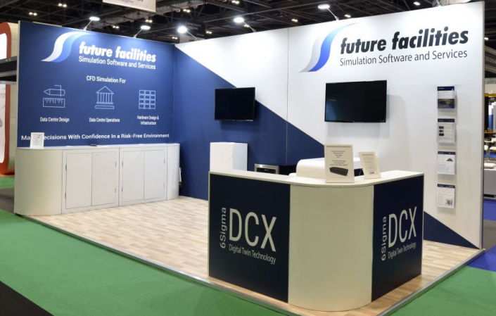 6m x 3m exhibition stand at Data Centre World