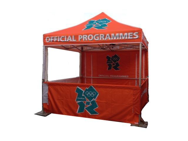 Marquee for London 2012 Olympics - Half wall 3 sides