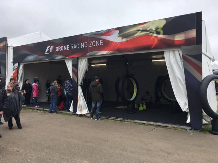 Drone Racing Zone Marquee - F1 British Grand Prix