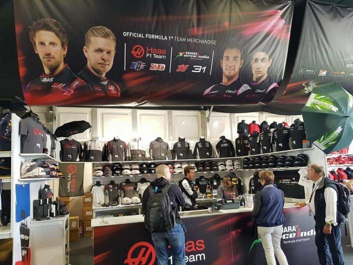 Merchandise Stand - F1 British Grand Prix