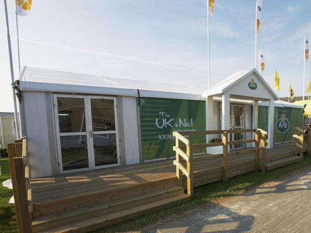 Arla Foods outdoor exhibition stand