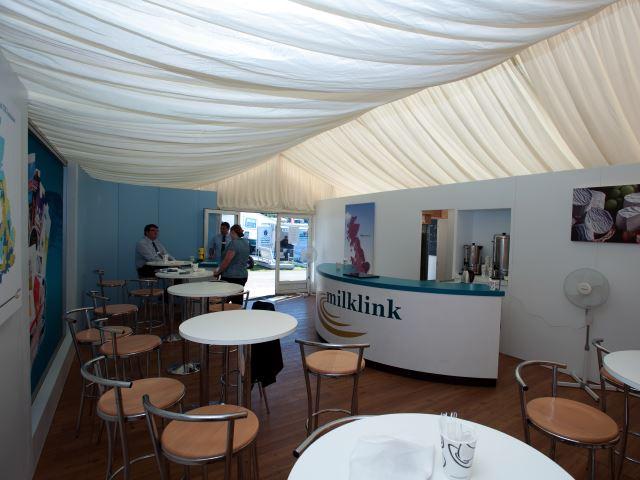 Milklink outdoor exhibition stand