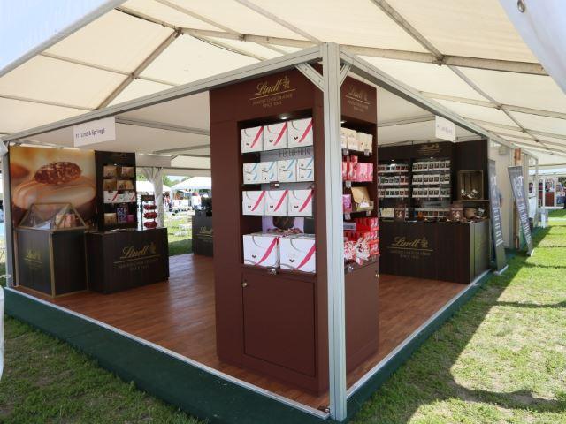 Lindt outdoor exhibition stand
