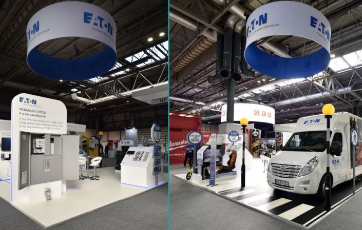 8m x 8m exhibition stand at CEF