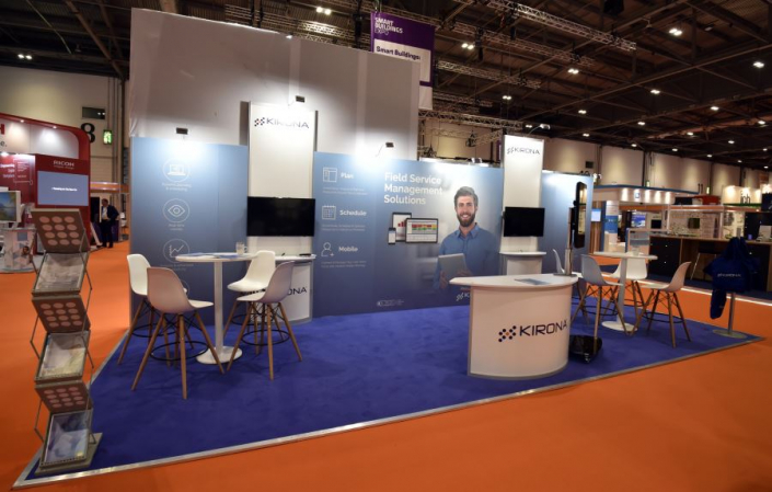 Exhibition stand hire 8m x 3m
