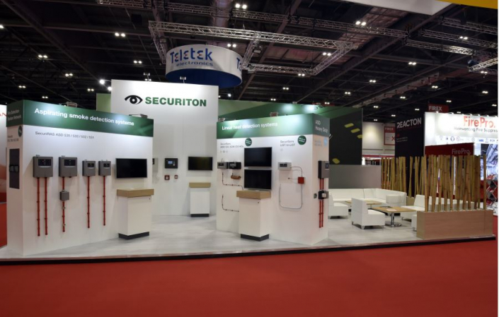 10m x 6m exhibition stand at FIREX