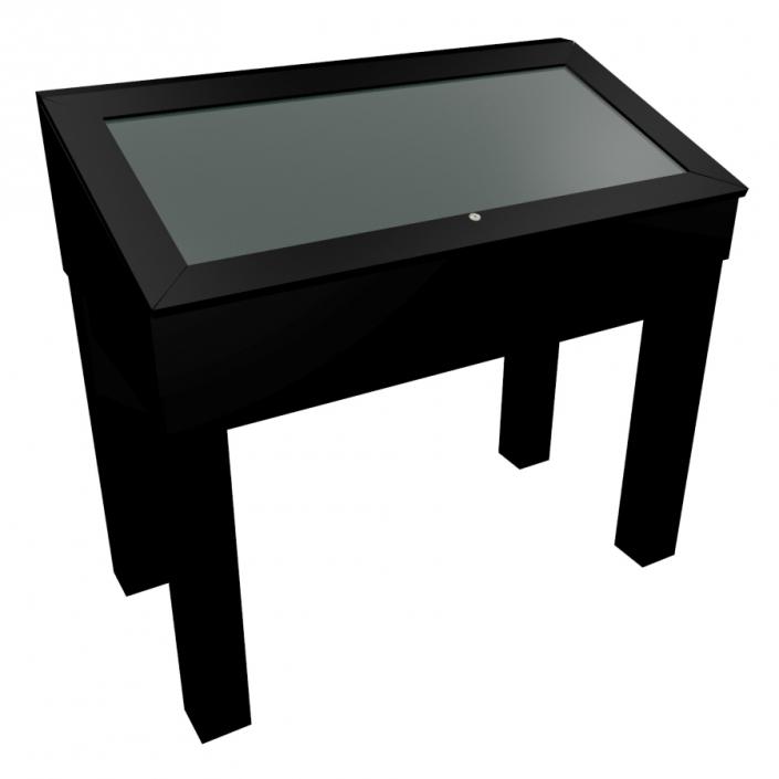 Black Laminate Wooden Glass Display Case - Design 2
