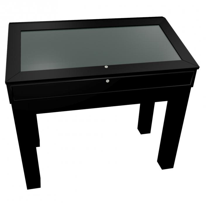 Black Laminate Wooden Glass Display Case - Design 4