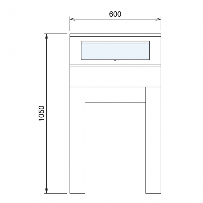 Wood Glass Display Cabinet CAD Drawing - 5