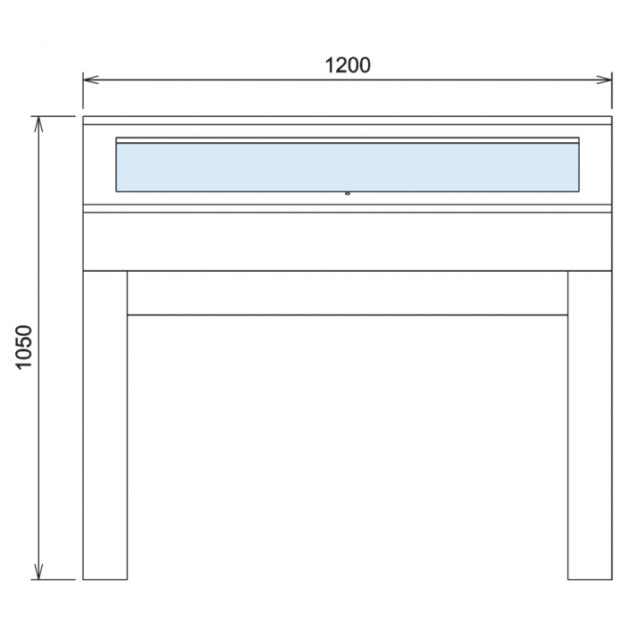 Wood Glass Display Cabinet CAD Drawing - 6
