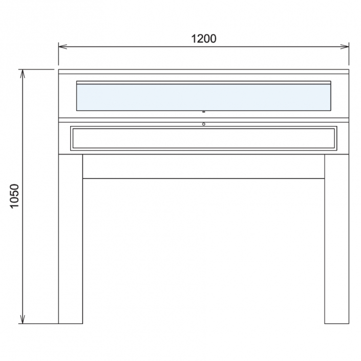 Wood Glass Display Cabinet CAD Drawing - 8