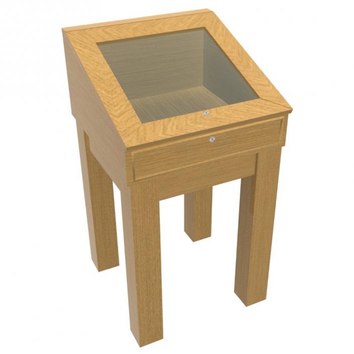 Wood Glass Display Case - Design 3