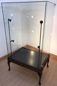 Mahogany wooden display case