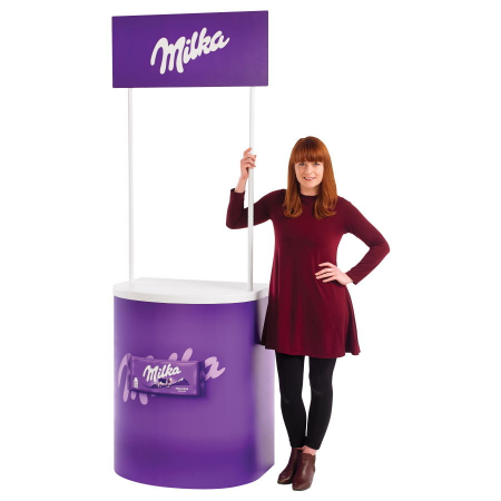 Rapido Promotional Counter with Header