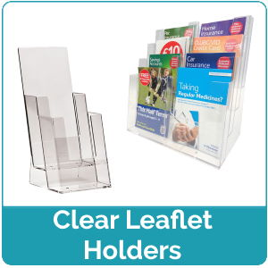 Clear Leaflet Holders
